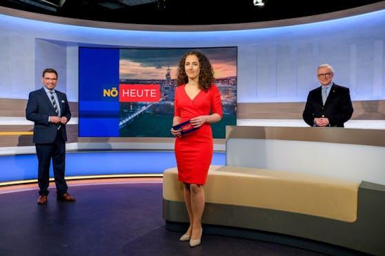 Robert Ziegler, Katharina Sunk, ORF-Landesdirektor Norbert Gollinger.