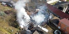 150 Florianis bei Großbrand in Kainraths im Einsatz