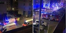 Feuerwehr mit Schutzanzügen bei Wiener Labor im Einsatz
