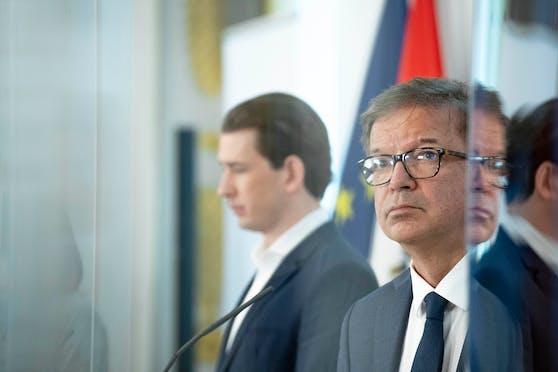 Unterschiedlicher Meinung: Bundeskanzler Sebastian Kurz (ÖVP), Gesundheitsminister Rudi Anschober (Grüne).
