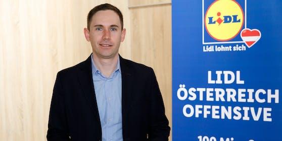 Im Vorjahr konnte Lidl Österreich seinen Umsatz um sieben Prozent auf über 1,47 Mrd. Euro netto steigern.(im Bild: Lidl Österreich Vorstandsvorsitzender Alessandro Wolf)