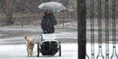 Sturmtief fegt Schnee und Graupelgewitter bis nach Wien