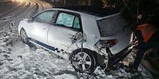 19-Jähriger rutscht auf Schnee in Gegenverkehr