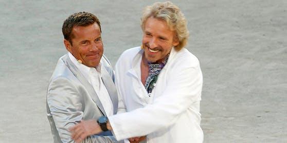 """""""Wetten, dass...?"""" (2010): Dieter Bohlen, Thomas Gottschalk"""