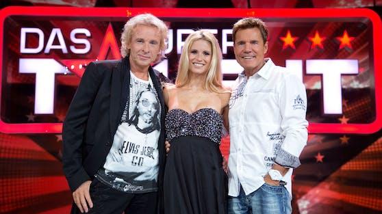 """Thomas Gottschalk saß 2012 mit Michelle Huniker und Dieter Bohlen in der """"Supertalent""""-Jury. Zum Show-Aus seines einstigen Kollegen hat die """"Wetten, dass...?""""-Legende eine ganz eigene Meinung."""