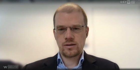 """Regierungs-Experte und Virologe Andreas Bergthaler im ORF-Interview bei """"Wien Heute"""""""