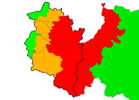 Warnstufe Rot in der Arlbergregion bis Mittwochvormittag: Bis zu 80 cm Neuschnee sind auf den Bergen möglich