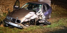 BMW bei Crash mit Pick-Up 100 Meter weg geschleudert