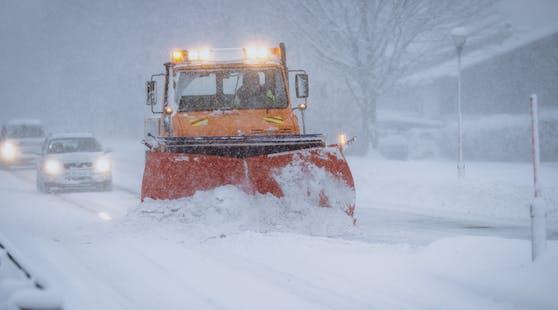Heftiger Schneefall in Österreich. Archivbild