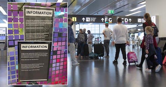 Aktuell sind die Raucherbereiche des Wiener Flughafen gesperrt