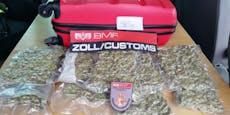 Zugreisender mit einem Kilo Cannabis im Gepäck erwischt