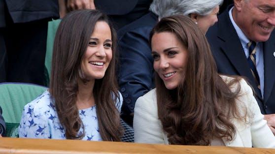 Pippa Matthews mit ihrer Schwester Herzogin Catherine bei einem Wimbledon-Tennisturnier.
