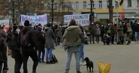 In Wien-Favoriten wurde am Mittwoch demonstriert.