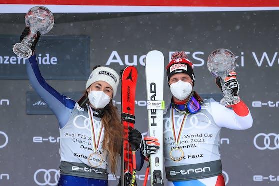 Sofia Goggia und Beat Feuz holten Abfahrts-Kristall.