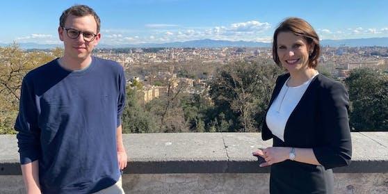 """""""Heute""""-Reporter Thomas Hangweyrer begleitete Ministerin Edtstadler nach Rom."""