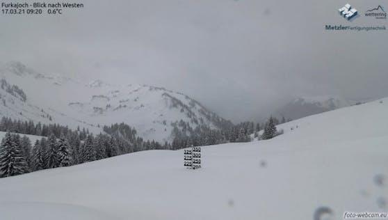 Viel Neuschnee in Vorarlberg.