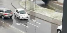 Peinliches Einbahn-Fahrmanöver sorgt für Hupkonzert
