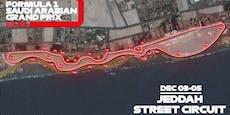 Saudi-Rennen: So sieht der schnellste Stadtkurs aus