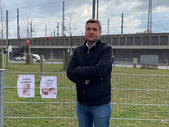 FP-Stadtrat Michael Raml hofft, dem Tierhasser auf die Spur zu kommen.