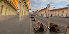 Wiener besetzen Parkplätze mit Paletten in Landstraße