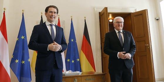 Bundeskanzler Sebastian Kurz auf Staatsbesuch in Berlin (im Bild mitdem deutschen Bundespräsidenten Frank-Walter Steinmeier, rechts)
