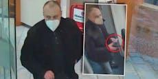 Er trug nur FFP2-Maske: Wer kennt diesen Bankräuber?