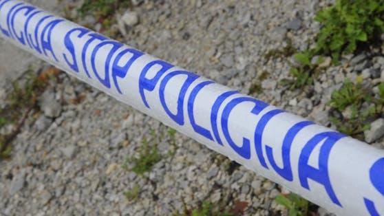 Polizei-Absperrung in Slowenien (Archivfoto)