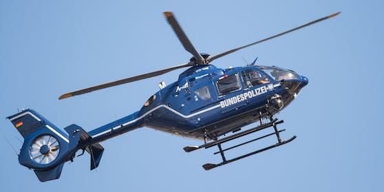 Ein Hubschrauber der deutschen Bundespolizei in Thüringen. (Symbolbild)