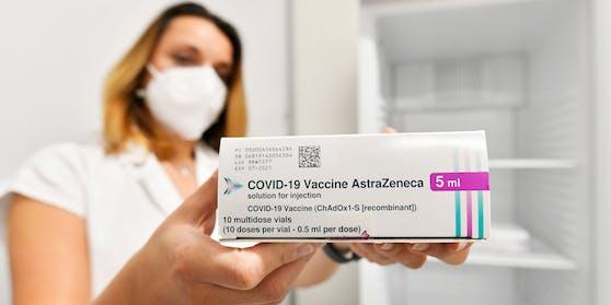 So sieht die Packung des AstraZeneca-Mittels aus.