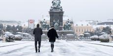 """Neuschnee bis in """"tiefste Lagen"""" – auch Wien wird weiß"""