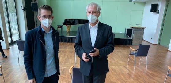 """Heute.at""-Chefredakteur Clemens Oistric mit dem Biontech-Gründer Christoph Huber."