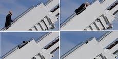 US-Präsident Biden stolpert auf Treppe 3x nacheinander