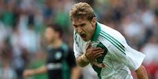 Ex-Rapid-Goalgetter muss seine Karriere beenden