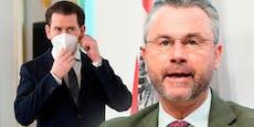 """Rundumschlag gegen Kurz nach """"Hygiene Austria""""-Razzia"""