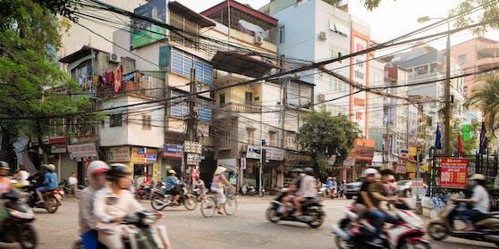 Dramatische Szenen spielten sich am Sonntag in der vietnamesischen Hauptstadt Hanoi ab.