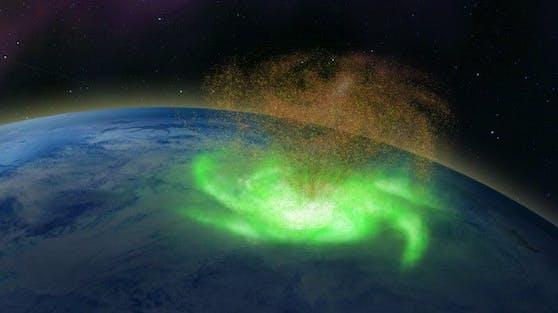 Illustration des Weltraum-Hurrikans: Seine Entdeckung hat weitreichende Implikationen
