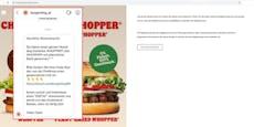 Diese Seite verspricht gratis Burger für einen Monat