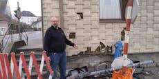 """Bäcker: """"Mein Haus wurde zum 3. Mal von Auto demoliert"""""""