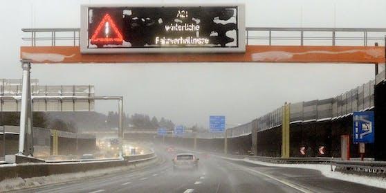 Die Wiener Außenring Autobahn (A21) ist gesperrt