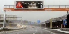 Schnee-Chaos! Wiener Außenring Autobahn gesperrt