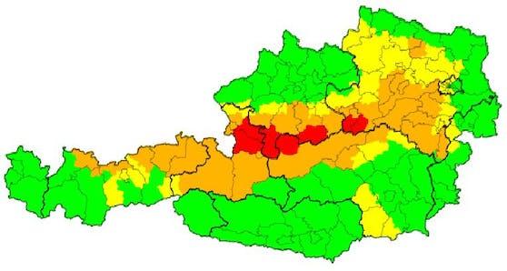 Aktuelle Wetter-Lage in Österreich