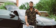 Rapper Samra fackelt 150.000-Euro-Lamborghini ab