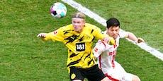 Haaland rettet Dortmund-Punkt gegen Nachzügler Köln