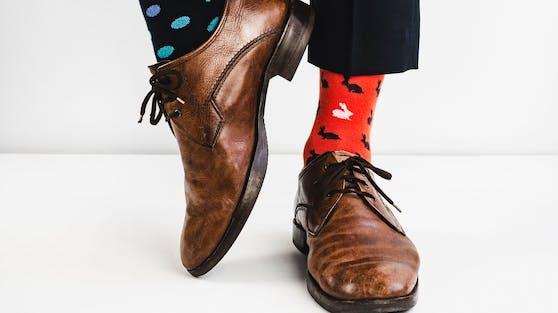 Heute ist der Tag der bunten Socken.