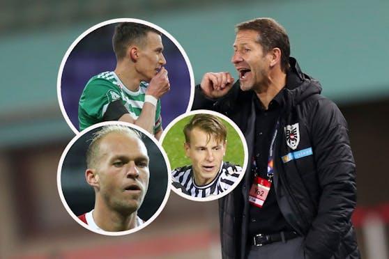Dejan Ljubicic, Stefan Schwab und Raphael Holzhauser sind nicht mehr im ÖFB-Kader.