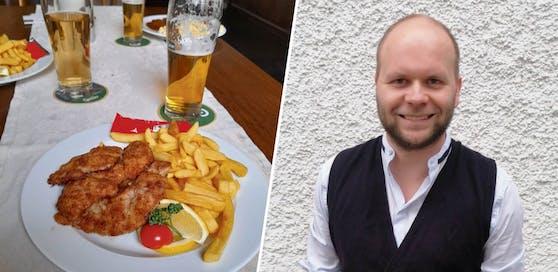 Schnitzel und Bier. Das gab's für Johannes Meyer (32) aus Ried in einem Braugasthof in Bregenz.