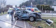 Alko-Unfälle forderten mehrere Verletzte