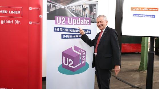 Öffi-Chef Günter Steinbauer erklärt U2/U5-Ausbau in Wien.