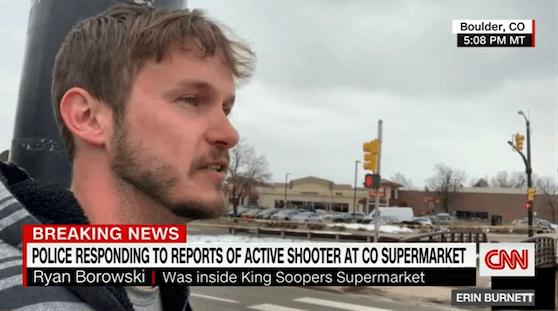 Ryan Borowski war im Supermarkt drin, als die Schüsse fielen.