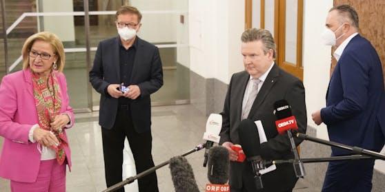 Corona-Gipfel in Wien für Maßnahmen für die Ostregion.